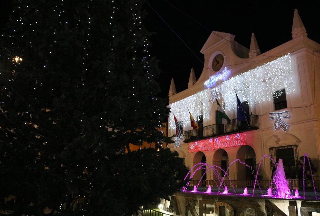 Encendido del alumbrado navideño en Cartaya