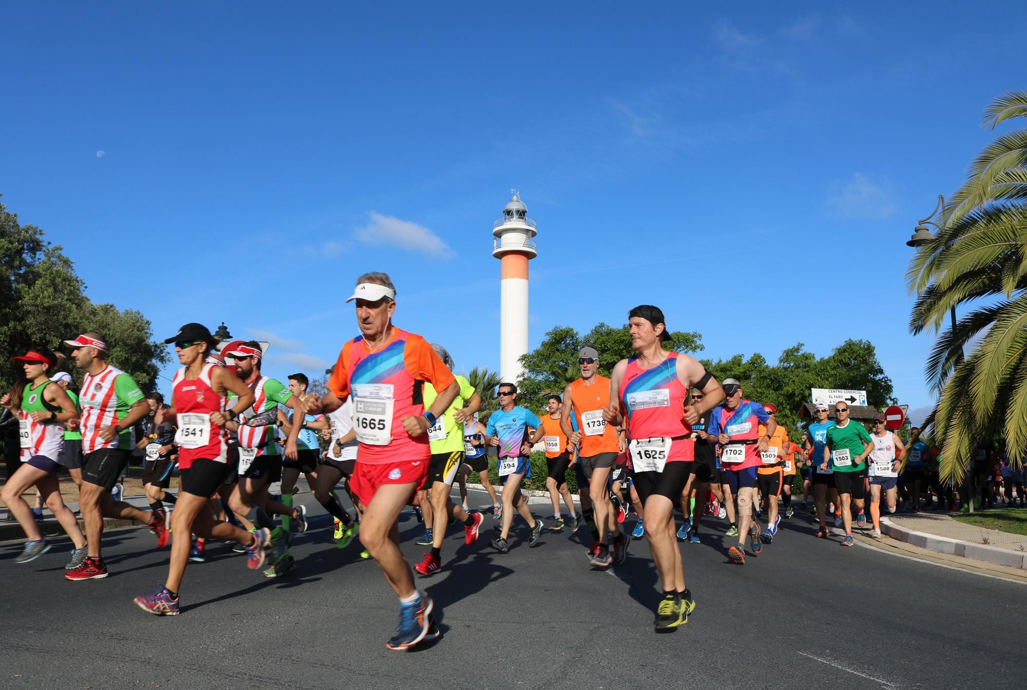 Imagen de archivo de la Media Maratón Playas de Cartaya.