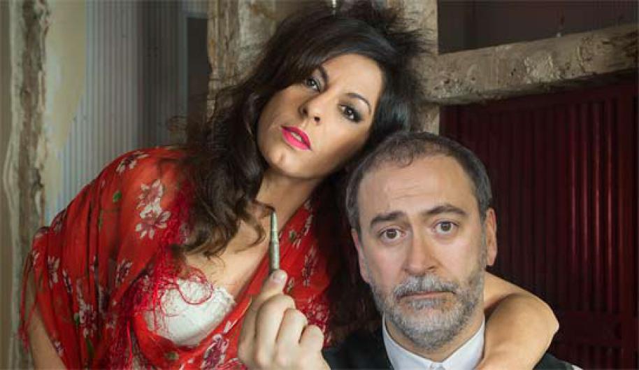Santiago Molero y Cristina Medina, en el cartel de '¡Ay Carmela!'