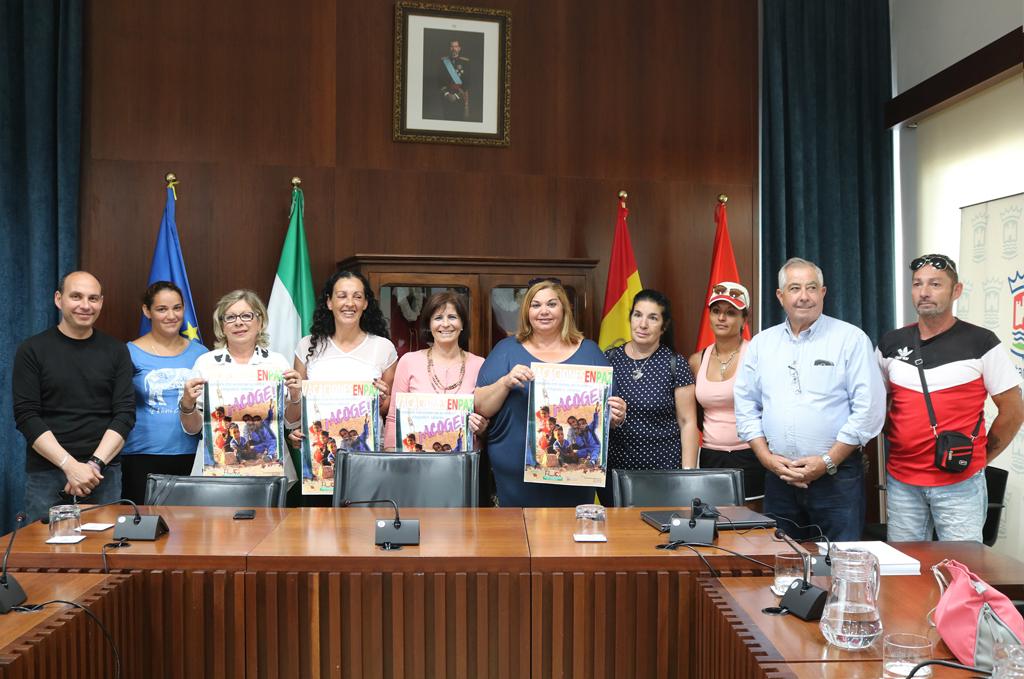 Presentación de la Campaña 'Vacaciones en paz' en el Salón de Plenos del Ayuntamiento de Cartaya.