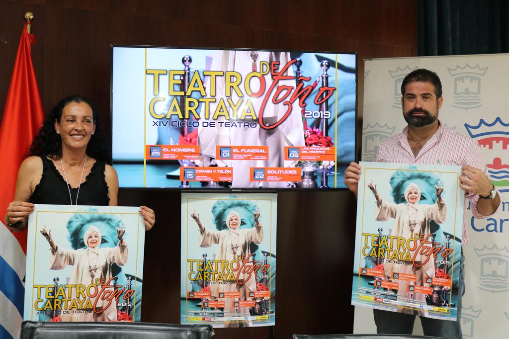 El Ayuntamiento de Cartaya presenta el XIV Ciclo de Teatro de Otoño de Cartaya 2019.