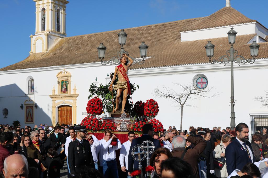 Procesión de San Sebastián 2020 en Cartaya.