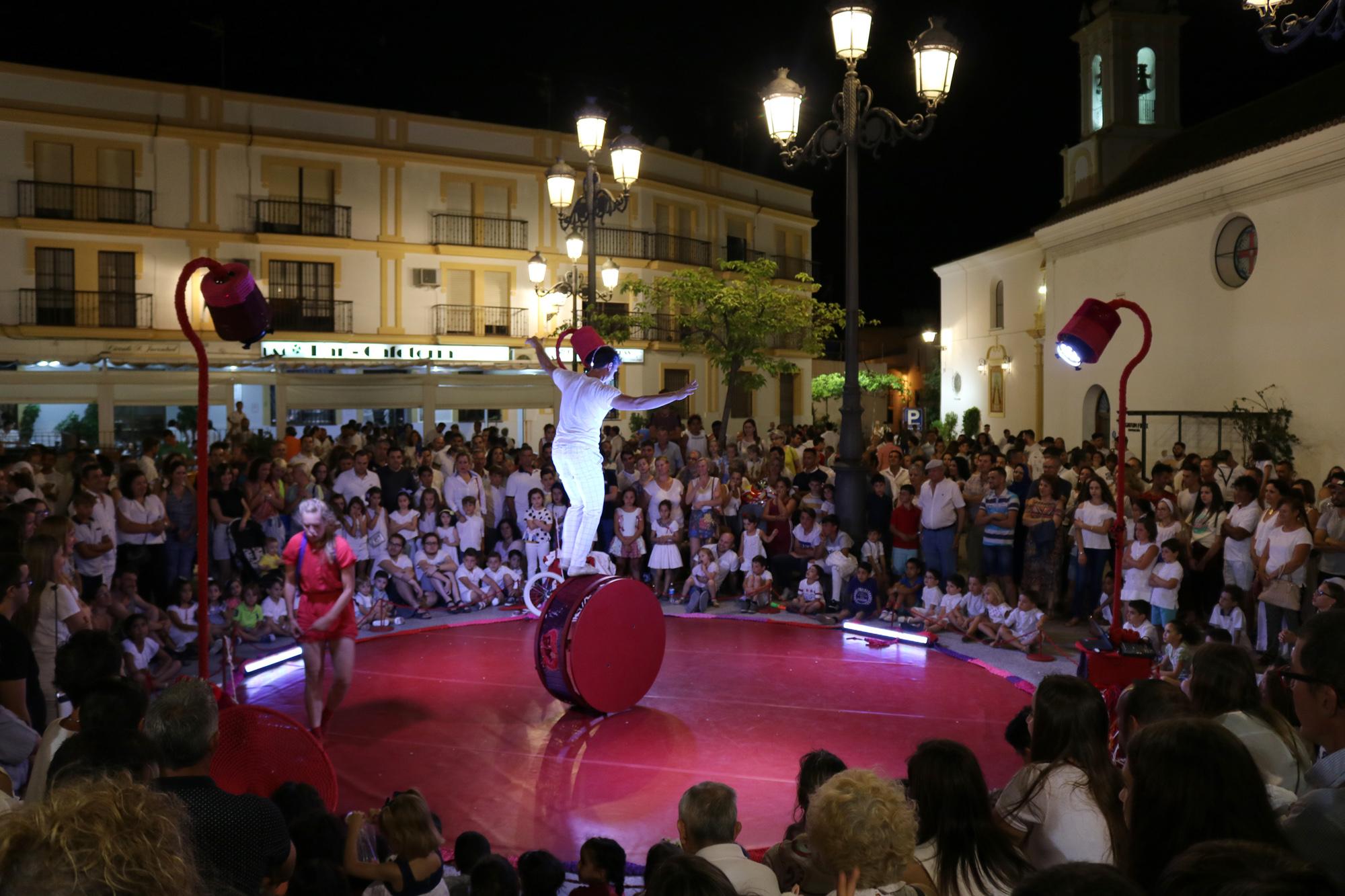 Imagen de archivo de la quinta edición de la Noche en Blanco de Cartaya, que se celebró en 2018