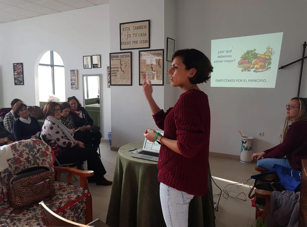 Taller sobre la alimentación en la menopausia, en Cartaya.