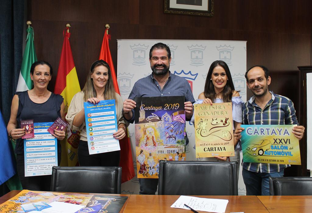 Presentación de la 56 Feria de Octubre de Cartaya, en el Salón de Plenos del Ayuntamiento