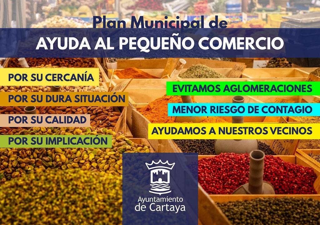 Campaña de apoyo municipal al pequeño comercio en Cartaya.