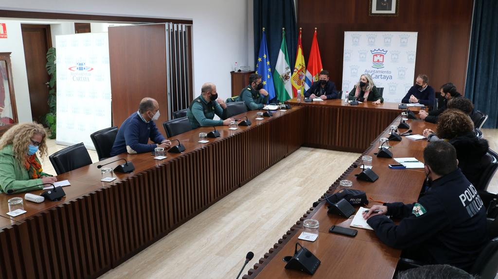 La Comisión de Seguridad del Covid-19 se reúne en Cartaya y hace un llamamiento urgente a la responsabilidad para frenar la tercera ola.