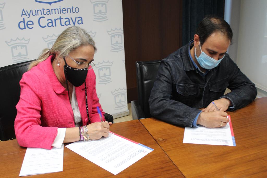 El Ayuntamiento refuerza su colaboración con el Ateneo Musical Cartayero, que anuncia un concierto cofrade virtual de Semana Santa