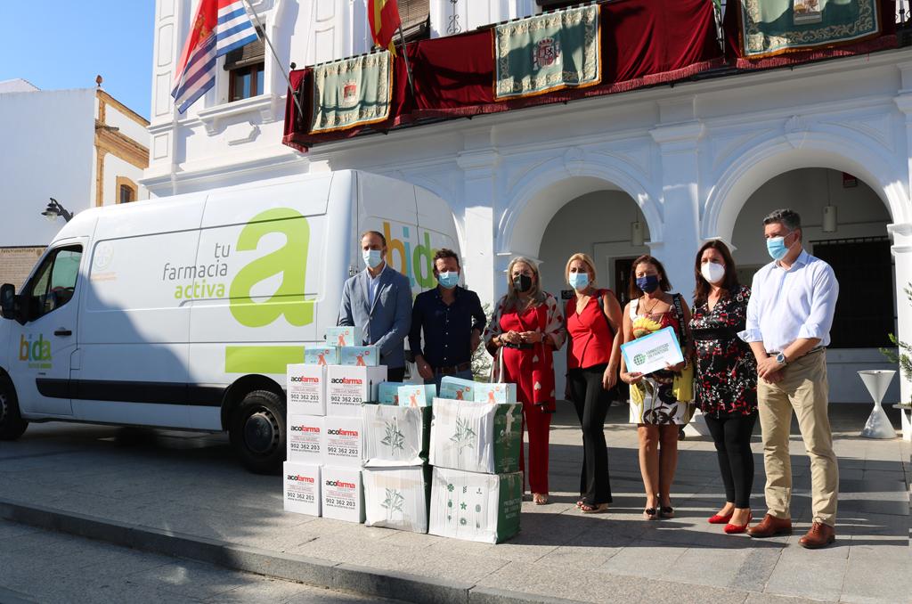 Bidafarma y Farmaceúticos sin Fronteras donan 2.500 productos sanitarios para los afectados por las inundaciones en Cartaya
