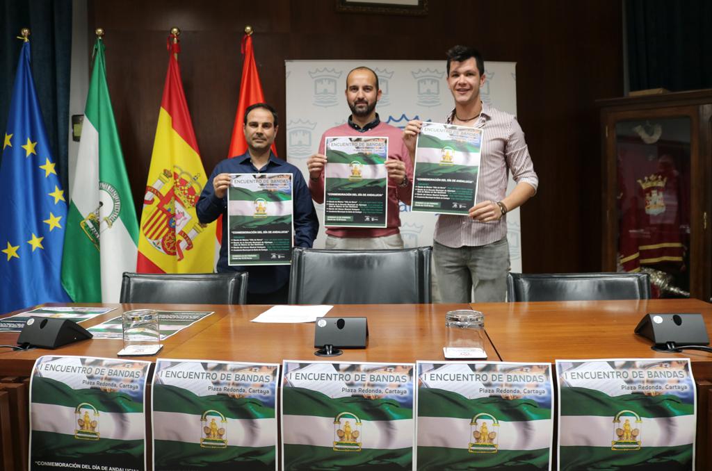 El Ayuntamiento de Cartaya y el Ateneo Musical Cartayero presentan el I Encuentro de Bandas de Música en conmemoración del Día de Andalucía.