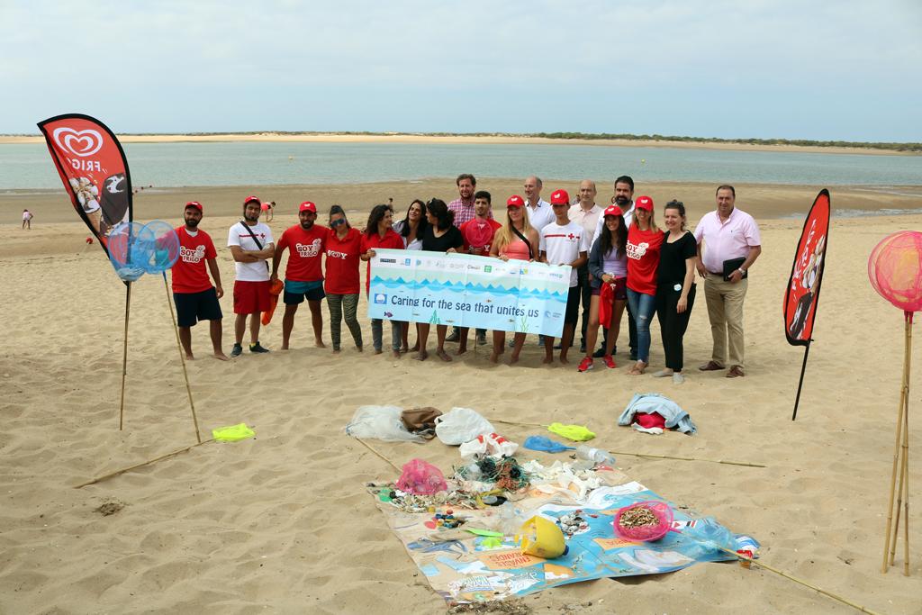 El Caño de La Culata, en Cartaya, escenario de la puesta en marcha del proyecto 'Playas Limpias',