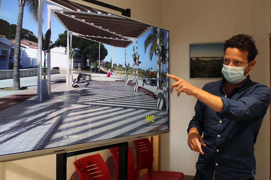 El Ayuntamiento presenta a los vecinos el proyecto de mejora del Paseo Marítimo de El Rompido en imágenes 3D
