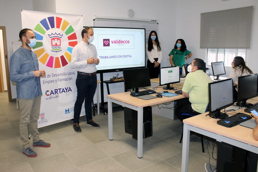 Comienza el curso de Competencias Digitales para la búsqueda de empleo que ponen en marcha en Cartaya el Ayuntamiento y la Fundación Valdocco
