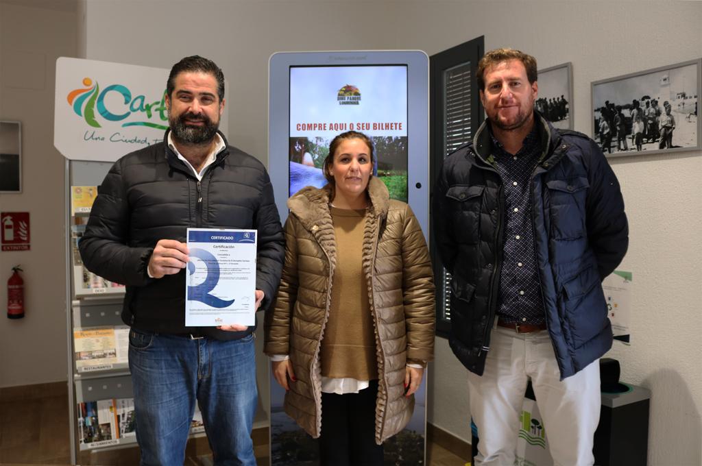 La oficina de Turismo de Cartaya renueva la 'Q' de Calidad Turística