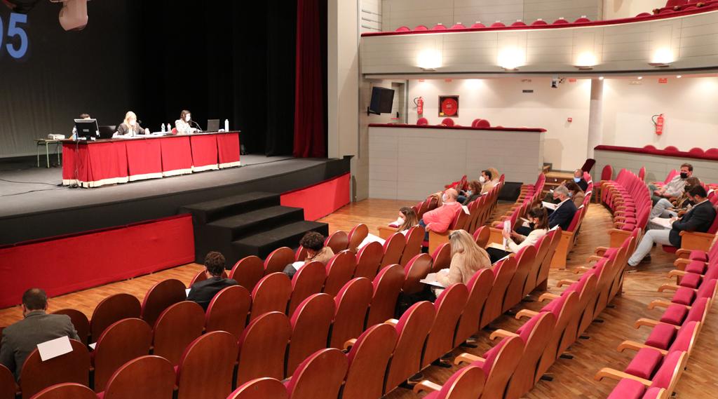 Pleno ordinario celebrado en marzo de 2021 en el Ayuntamiento de Cartaya.