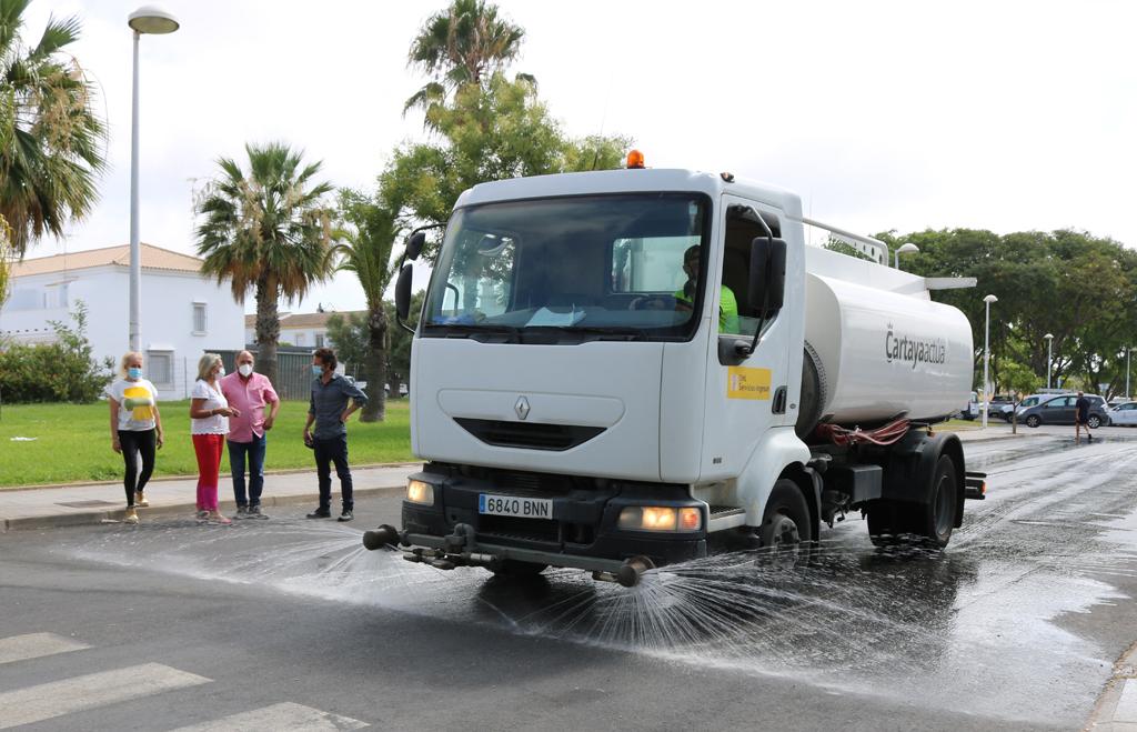 El Ayuntamiento de Cartaya inicia un plan especial de desinfección en los tres núcleos: Cartaya, El Rompido y Nuevo Portil.