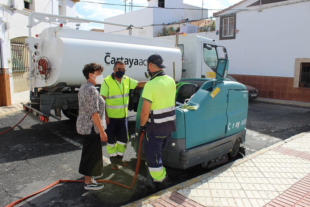 El Ayuntamiento pone en marcha la campaña 'Que brille tu Cartaya' para mejorar la limpieza viaria en calles y plazoletas