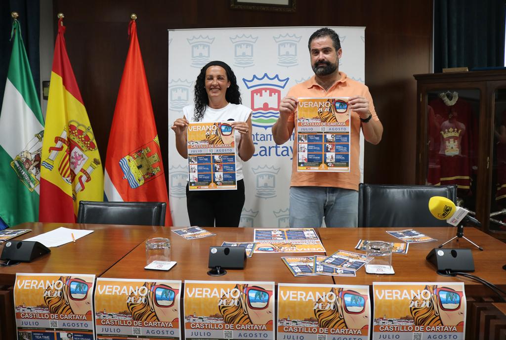 Presentación de la programación cultural veraniega del Ayuntamiento de Cartaya.